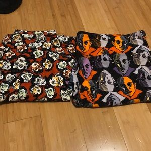 Two pair of LuLaRoe vintage Halloween leggings new